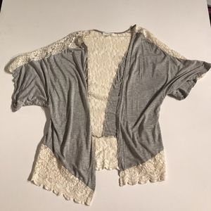 Taylor & Sage Lace Open Front Cardigan Sweater S